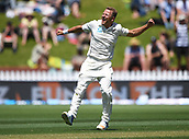1st December 2017, Basin Reserve, Wellington, New Zealand; International Test Cricket, Day 1, New Zealand versus West Indies;  Niel Wagner celebrates the wicket of Chase