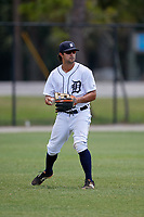 Detroit Tigers Vinny Esposito (61) during a Minor League Extended Spring Training game against the Toronto Blue Jays on May 23, 2019 at Tigertown in Lakeland, Florida.  (Mike Janes/Four Seam Images)
