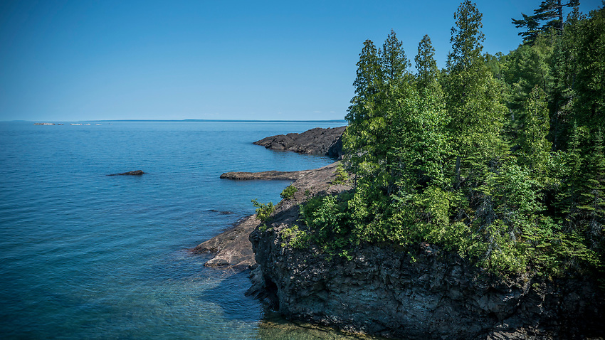 Blackrocks area of Presque Isle Park on Lake Superior in Marquette, Michigan.