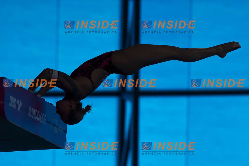 PETUKHOVA Ekaterina RUS<br /> London, Queen Elizabeth II Olympic Park Pool <br /> LEN 2016 European Aquatics Elite Championships <br /> Diving<br /> Women's 10m platform preliminary <br /> Day 05 13-05-2016<br /> Photo Giorgio Perottino/Deepbluemedia/Insidefoto