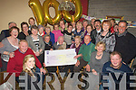 CENTURY: Tommy O'Carroll, Causeway with his president cheque of EUR2, 540 as he reached 100years of age on Monday with Tommy at his home in Causeway celebrating his 100 birthday were his family and friends.................................. ....