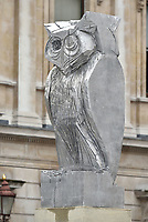 Owl sculpture<br /> Royal Academy of Arts Summer exhibition preview at Royal Academy of Arts on June 04, 2019 in London, England.<br /> CAP/PL<br /> ©Phil Loftus/Capital Pictures