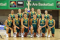 The Australian Opals during the International women's basketball match between NZ Tall Ferns and Australian Opals at Te Rauparaha Stadium, Porirua, Wellington, New Zealand on Monday 31 August 2009. Photo: Dave Lintott / lintottphoto.co.nz