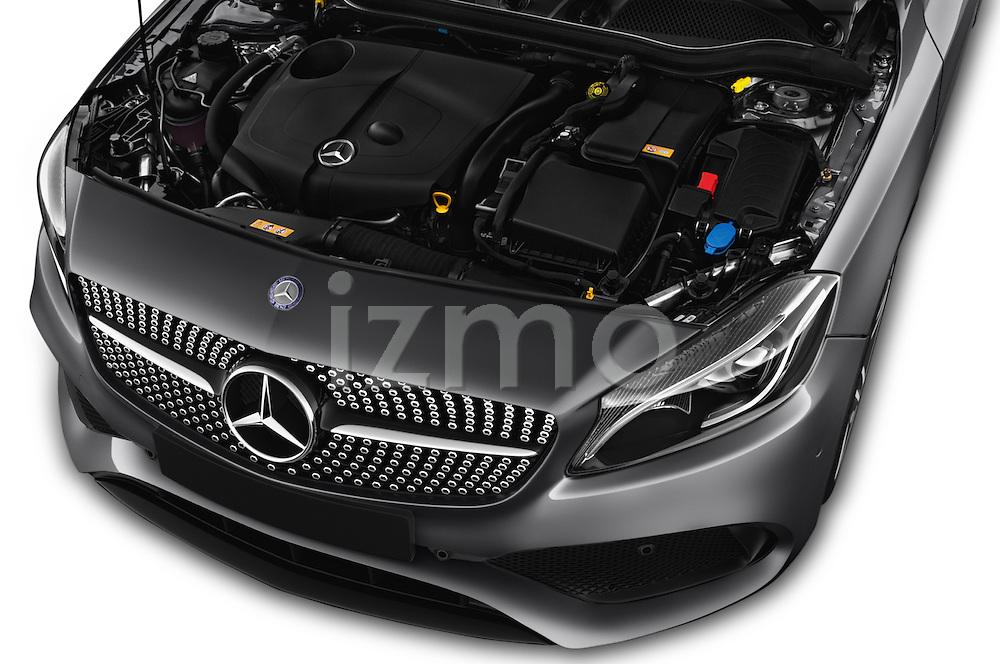 Car Stock 2016 Mercedes Benz A-Class Fascination 5 Door Hatchback Engine  high angle detail view
