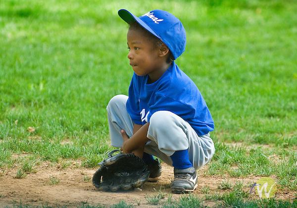 Original Little League t-ball. Fielding