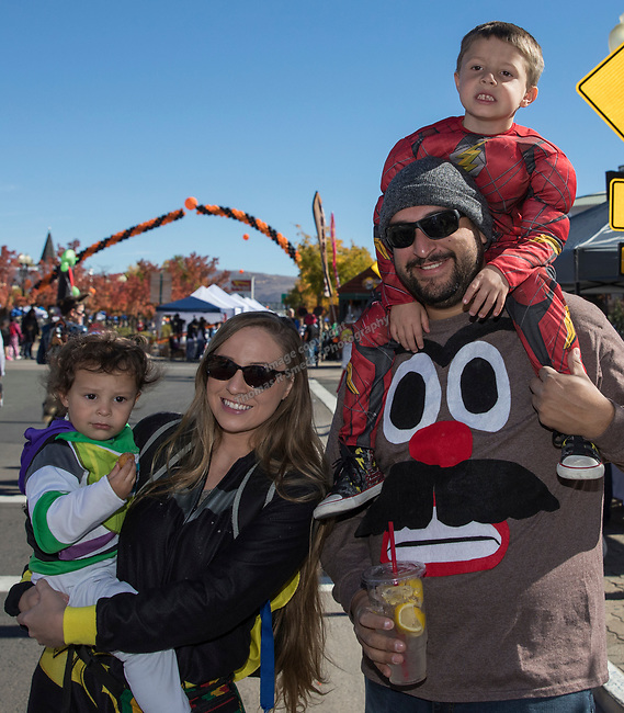 The Rodriguez family during Pumpkin Palooza in Sparks, Nevada on Sunday, Oct. 22, 2017.