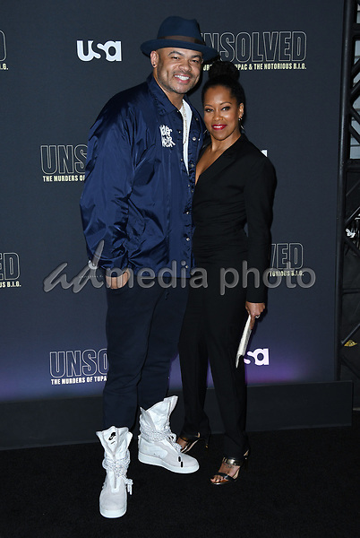 "22 February 2018 - Hollywood, California - Anthony Hemingway, Regina King. USA Network's ""Unsolved: The Murders of Tupac & The Notorious B.I.G."" held at Avalon Hollywood. Photo Credit: Birdie Thompson/AdMedia"