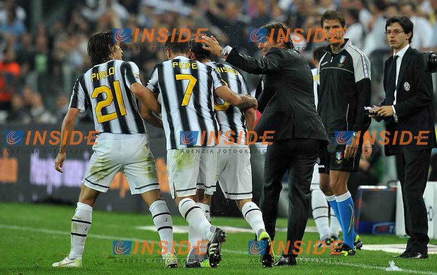 "Esultanza dopo il gol di Claudio MARCHISIO (Juventus) goal celebration.Torino 2/10/2011 Stadio ""Juventus Stadium"".Serie A 2011/2012.Football Calcio JUventus Vs Milan.Foto Insidefoto Alessandro Sabattini."