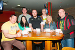 Rock & Roll Bingo : Taking part in the Rock & Roll bingo fund raiser on behalf of Listowel Rugby club at Christy's Bar, Listowel on Friday night  last were in front Andy Smith, Carol Anne Healy, Aidan Mulvihill, Ornagh Ferris & mark Thompson. Back : Tom Bradley & Gus Sweeney.