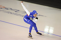 SPEEDSKATING: CALGARY: 14-11-2015, Olympic Oval, ISU World Cup, Ladies 1000m, Heather Richardson (USA), world record: 1.12,51, ©foto Martin de Jong