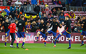 7th January 2018, Camp Nou, Barcelona, Spain; La Liga football, Barcelona versus Levante; Barcelona players warn up before the game