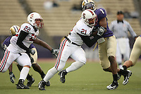 11 November 2006: Bo McNally and Thaddeus Chase Jr. during Stanford's 20-3 win over the Washington Huskies in Seattle, WA.
