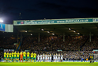 The Leeds United players hold a minute's applause before kick off<br /> <br /> Photographer Alex Dodd/CameraSport<br /> <br /> The EFL Sky Bet Championship - Leeds United v Norwich City - Saturday 2nd February 2019 - Elland Road - Leeds<br /> <br /> World Copyright © 2019 CameraSport. All rights reserved. 43 Linden Ave. Countesthorpe. Leicester. England. LE8 5PG - Tel: +44 (0) 116 277 4147 - admin@camerasport.com - www.camerasport.com