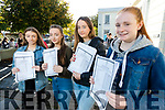 Danielle Ni Néill, Mébh Ní Mhaoldomhnaigh, Laoise Ní Dhulchaointigh and Clodagh Ní Chonchúir,  Gaelchólaiste Chiarraí students, pictured after receiving their Junior Certificate results on Wednesday morning last.