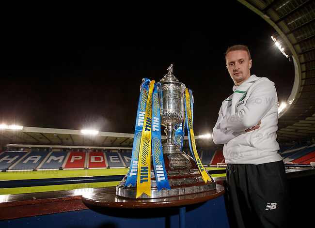 Celtic striker Leigh Griffiths with the Scottish Cup