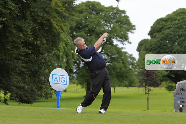 Declan Prendergast (Castlebar) on the 1st tee during the AIG Connacht Pierce Purcell Shield Semi-Finals of the AIG Connacht Cups &amp; Shields Finals 2016 at Ballinrobe Golf Club, Ballinrobe Co. Mayo on Saturday 6th August 2016.<br /> Picture:  Golffile | Thos Caffrey<br /> <br /> All photos usage must carry mandatory copyright credit   (&copy; Golffile | Thos Caffrey)