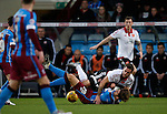 Billy Sharp of Sheffield Utd gets close to Charlie Goode of Scunthorpe Utd - English League One - Scunthorpe Utd vs Sheffield Utd - Glandford Park Stadium - Scunthorpe - England - 19th December 2015 - Pic Simon Bellis/Sportimage