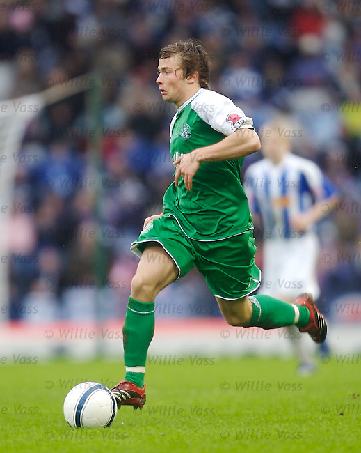 Lewis Stevenson, Hibs.stock season 2006-2007.pic willie vass