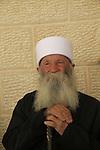 Israel, Upper Galilee, a Druze elder in Nabi Sabalan