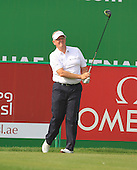 Colin Montgomerie (SCO) in action during the first round of the 2013 Omega Dubai Desert Classic being played over the Majlis Golf Course, Emirates Golf Course from 31st January to 3rd February 2013: Picture Stuart Adams www.golftourimages.com/www.golffile.ie:  31st January 2013