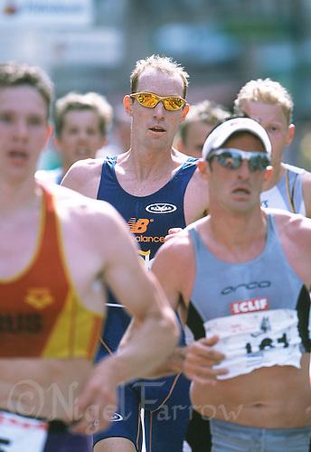 02 JUN 2002 - ZUNDERT, NETHERLANDS - Andrew Johns - Zundert Triathlon and Commonwealth Games qualifier. (PHOTO (C) NIGEL FARROW)