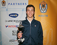 01-12-13,Netherlands, Almere,  National Tennis Center, Tennis, Winter Youth Circuit, Boys 16 years , 4 th place : Ruben Konings<br /> Photo: Henk Koster