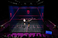 Joelle King of New Zealand competes against Sarah-Jane Perry of England in the Women's Singles Final. Gold Coast 2018 Commonwealth Games, Squash, Oxenford Studios, Gold Coast, Australia. 9 April 2018 © Copyright Photo: Anthony Au-Yeung / www.photosport.nz /SWpix.com