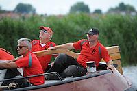 ZEILEN: GROU: Pikmar, De Tynje, Wide Ie, 30-07-2016, SKS skûtsjesilen, openingswedstrijd, Gerhard Pietersma (Earnewâld), ©foto Martin de Jong