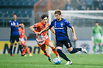 Gamba Osaka Defender Miura Genta (R) in action against Jeju United Midfielder Lee Changmin (L) during the AFC Champions League 2017 Group H match Between Jeju United FC (KOR) vs Gamba Osaka (JPN) at the Jeju World Cup Stadium on 09 May 2017 in Jeju, South Korea. Photo by Marcio Rodrigo Machado / Power Sport Images