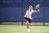 June 10th 2017,  Nottingham, England; ATP Aegon Nottingham Open Tennis Tournament day 1; Alex Bolt of Australia on his way to victory over Edward Corrie of Great Britain