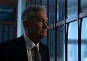 Chair of the Federal Reserve Jerome Powell arrives to testify before the House Financial Services Committee on Capitol Hill in Washington D.C., U.S. on July 10, 2019.<br /> <br /> Credit: Stefani Reynolds / CNP