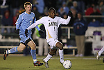 11 December 2009: Akron's Darlington Nagbe (6) is chased by UNC's Dustin McCarty (7). The University of Akron Zips defeated the University of North Carolina Tar Heels 5-4 on penalty kicks after the game ended in a 0-0 overtime tie at WakeMed Soccer Stadium in Cary, North Carolina in an NCAA Division I Men's College Cup Semifinal game.