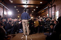 Former congressman Rick Santorum speaks to a crowd at a town hall meeting in Northfield, New Hampshire.  Santorum is seeking the 2012 Republican nomination for president.