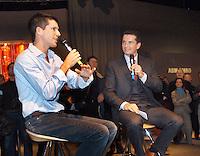 14-02-2005,Rotterdam, ABNAMROWTT , Richard Krajicek intervieuwd Tim Henman