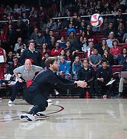 STANFORD, CA - March 2, 2019: Kyle Dagostino at Maples Pavilion. The Stanford Cardinal defeated BYU 25-20, 25-20, 22-25, 25-21.
