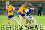 Andrew Fitzgerald Spa steals the ball from Shane O'Connor Laune Rangers during their SFL Div 2 game in Spa on Sunday