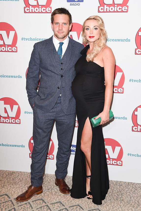 Jack Ashton and Helen George<br /> arriving for the TV Choice Awards 2017 at The Dorchester Hotel, London. <br /> <br /> <br /> ©Ash Knotek  D3303  04/09/2017
