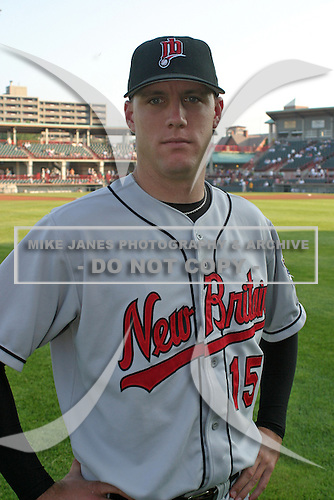 August 13, 2003:  Pitcher Jim Abbott of the New Britain RockCats during a game at Jerry Uht Park in Erie, Pennsylvania.  Photo by:  Mike Janes/Four Seam Images