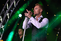 Ronan Keating performs at the evening event of the Graham Wylie Foundation- Have A Heart- golf day with Lee Westwood and Ronan Keating at Gateshead Hilton England on 10 September 2018. Photo by Thomas Gadd.