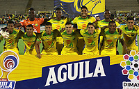 NEIVA- COLOMBIA, 14-10-2019:Formación  del Atlético Huila ante el Atlético Bucaramanga durante partido por la fecha 17 de la Liga Águila II 2019 jugado en el estadio Guillermo Plazas Alcid de la ciudad de Neiva. / Team  of Atletico Huila agaisnt of Atletico Bucaramanga during the match for the date 17 of the Liga Aguila II 2019 played at the Guillermo Plazas Alcid Stadium in Neiva  city. Photo: VizzorImage / Sergio Reyes / Contribuidor.