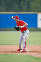 Philadelphia Phillies Nick Maton (6) during practice before an Instructional League game against the Toronto Blue Jays on October 7, 2017 at the Englebert Complex in Dunedin, Florida.  (Mike Janes/Four Seam Images)