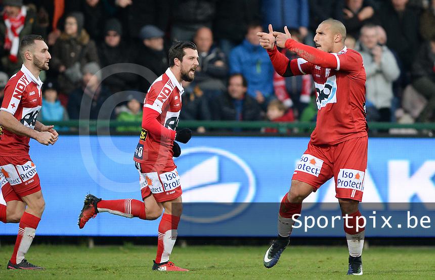 KV Kortrijk - RSC Anderlecht : Idriss Saadi scoort de 1-2 aansluitingstreffer voor Kortrijk<br /> Foto David Catry | VDB | Bart Vandenbroucke
