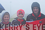 Daingean Uí Chúis supporters Luke O'Connell, Eoin Brosnan and Jack Ó Sé enjoying the West Kerry Senior Final at Lios Poil GAA Grounds in Sunday afternoon..