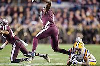 LSU safety Jamal Adams (33) tackles Texas A&M running back Brandon Williams (1) during an NCAA football game, Thursday, November 27, 2014 in College Station, Tex. (Mo Khursheed/TFV Media via AP Images)
