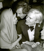 1978 FILE PHOTO<br /> New York City<br /> Bianca Jagger Steve Rubell Andy Warhol at Studio 54<br /> Photo by Adam Scull-PHOTOlink.net