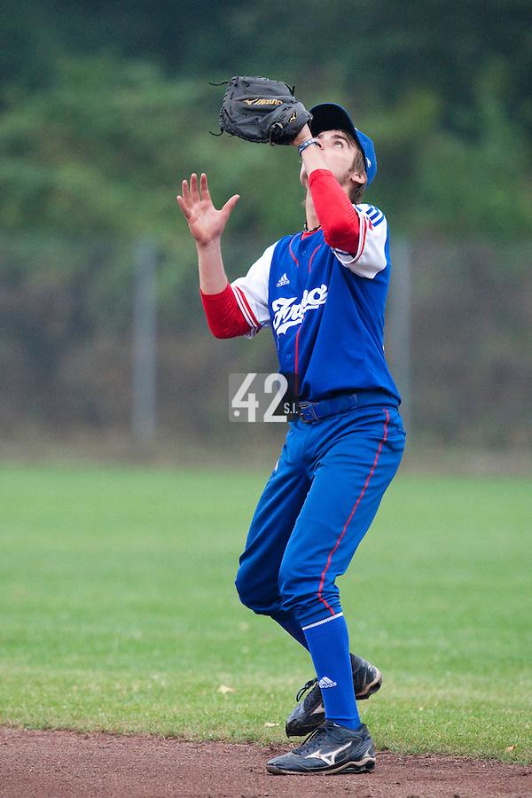 Baseball - 2009 European Championship Juniors (under 18 years old) - Bonn (Germany) - 08/08/2009 - Day 6 - Simon Vicente (France)