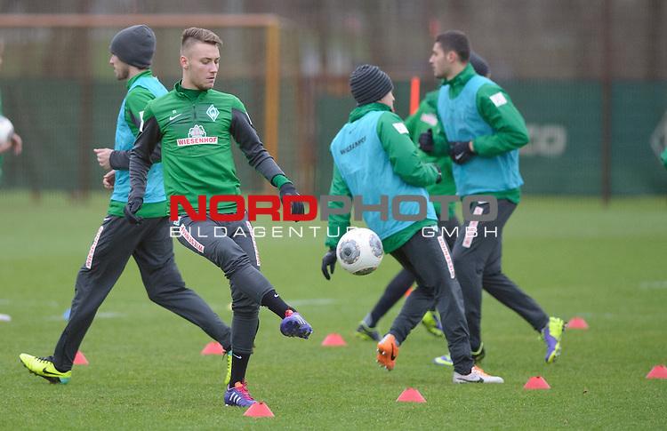 17.12.2013, Trainingsgelaende, Bremen, GER, 1.FBL, Training Werder Bremen, im Bild Levent Aycicek (Bremen #28)<br /> <br /> Foto &copy; nordphoto / Frisch