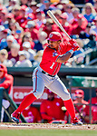 29 February 2020: Washington Nationals outfielder Wilmer Difo in action during a Spring Training game against the St. Louis Cardinals at Roger Dean Stadium in Jupiter, Florida. The Cardinals defeated the Nationals 6-3 in Grapefruit League play. Mandatory Credit: Ed Wolfstein Photo *** RAW (NEF) Image File Available ***