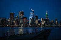 NEW YORK, NY - 09.06.2017 - EMPIRE-STATE -  Empire State Building é visto em New York na noite desta sexta-feira, 10. (Foto: Vanessa Carvalho/Brazil Photo Press)