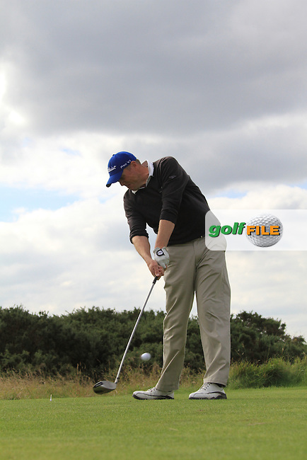 Final Day of the 100th Irish PGA championship at Seapoint Golf Club, Co Louth..David Mortimer teeing off on the 8th.Picture Fran Caffrey/www.golffile.ie.